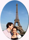 Japanese lady with fiance in Paris